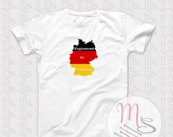 Engineered in Germany T-Shirt, Perfect for any German car Lover!  TShirt, Top, VW, Audi, BMW, Porsche, VWGroup