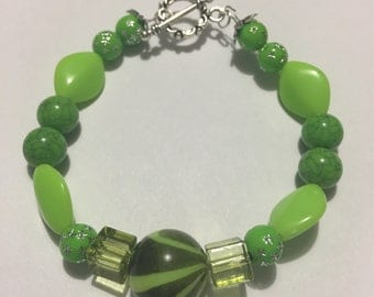 Green Swirl Bracelet