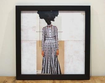 Dressed Up - Digital Collage Art Print Poster