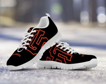 San Francisco Giants Baseball Fan Custom Running White Shoes/Sneakers/Trainers - Ladies + Mens Sizes