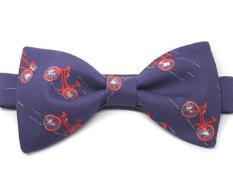 Handcrafted Bike-fan pre-tied bow tied LIMITED COLLECTION