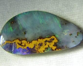 Boulder opal 8.93cts: 23mm x 12mm x 3mm