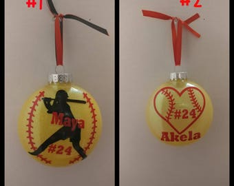 Softball ornament **free shipping**