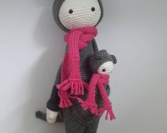 Crochet toy Kira the Kangaroo with her baby