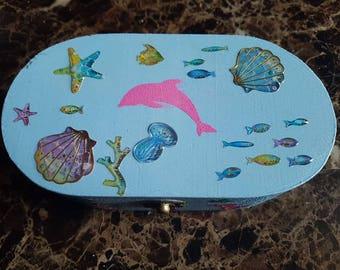 Under the Sea mini trinket box