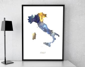 Italy poster, Italy art, Italy map, Italy print, Gift print, Poster