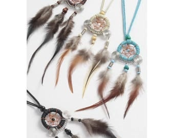 New native american dreamcatcher necklace