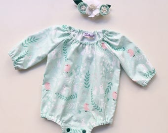 Mint Romper for babygirl
