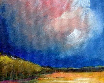 Clouds Landscape Original Acrylic Painting