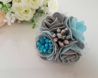Elastic Hair Ties,Rainbow flower hair tie,Kids hair ties,Gift for her,Flower Hair Band,Hair Accessories,Elastics,flower ponytail holder