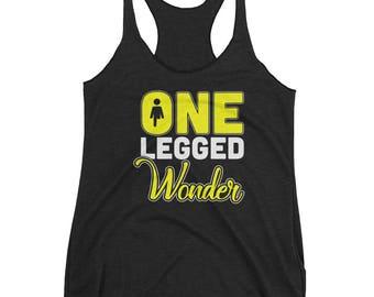 One Legged Wonder Women's Racerback Tank for Amputees