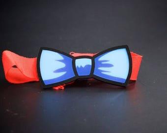 Bow tie/bow tie Men's Blue Plexiglass model Cartoon