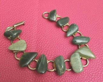 bracelet of linked jade stones