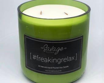 16 oz #freakingrelax Aromatherapy Candles   All Natural Soy Candle   Essential Oil Candles   #freakingrelax