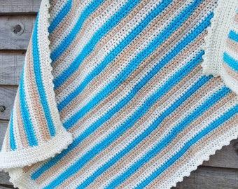 Crochet baby  blanket. Handmade.Car seat/Pram size