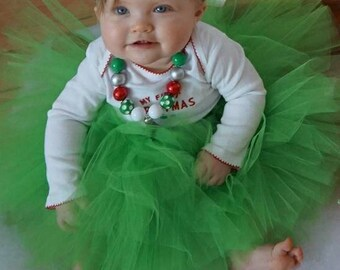 Christmas tutu, green tutu, tutu, birthday tutu, christmas birthday, smash cake tutu