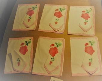 Hand embroidered Placemats & Napkins Swiss made     [cin123bt]