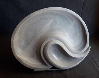 Marble Sculpture, Handmade Minimalist Marble Bowl