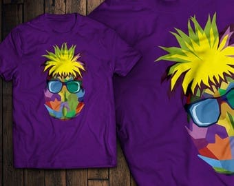 Cool Pineapple Fruit Vibrant and Colorful T-Shirt