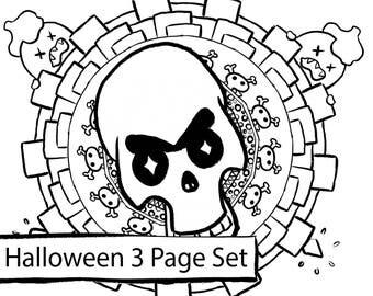 Halloween Adult Coloring Set