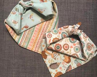 Forest Friends Bandana, Dog Bandana, Pet Bandana, Tie On Bandana, Reversible Bandana, Snap On Bandana