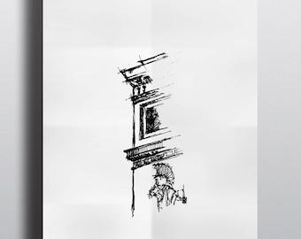 Architectural sketch Series Paris Arc de Triomphe limited edition