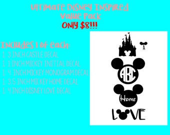 Disney Inspired Decal Value Pack