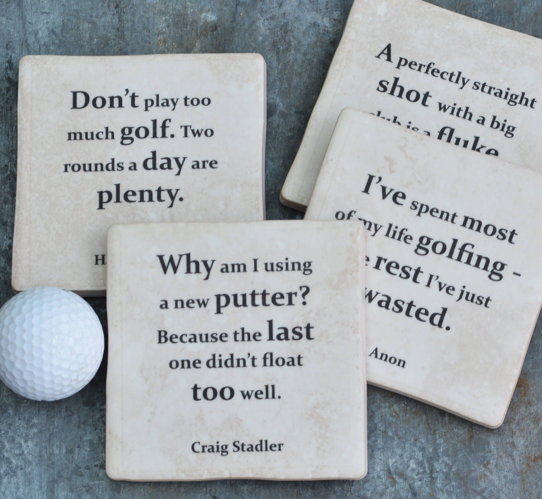 Golf Quotes About Life Golf Quotes Set Of 4 Coasters