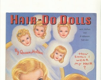 Vintage Forties Paper Dolls Hair Dos