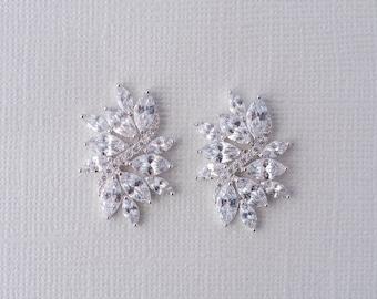 Fleur de vie Cubic Zirconia Earrings (Set), Wedding Jewellery set, Bridal jewelry, CZ Earrings, Crystal Statement Earrings, Bride Earrings