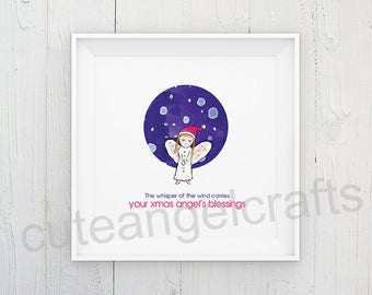 YOUR CUSTOM SIZE Angel Poster, Christmas Poster, High Resolution Blessing Poster