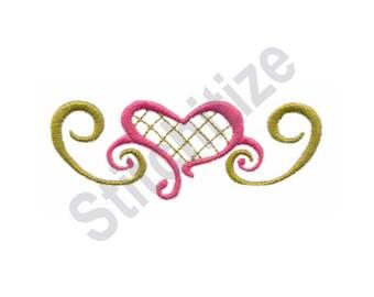 Scroll Heart - Machine Embroidery Design