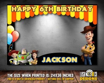 Toys Story Photo booth frame, Woody and Jessie Birthday Party, Toy Story Photo Booth Frame, Toy Story party Prop, birthday photo booth