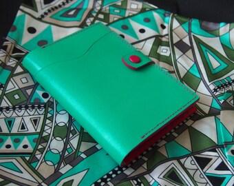 Bright passport cover   Passport Case Travel organizer Document holder Mint Fuchsia