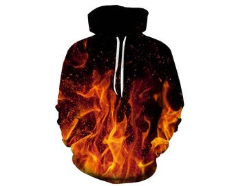 Fire Hoodie, Hoodie Pattern, Pattern Hoodie, Graphic Hoodie, Graphic Sweatshirt, Fire Sweatshirt, Fire, Hoodie, 3d Hoodie - Style 1