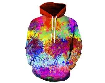 Tree Hoodie, Outdoor Hoodie, Tree Sweatshirt, Nature Hoodie, Art, Hoodie Art, Hoodie Pattern, Pattern Hoodie, Hoodie, 3d Hoodie - Style 7