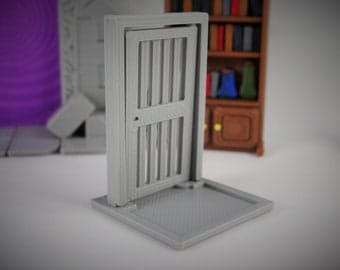 28mm Door, DND, 3D Terrain, Dungeons And Dragons, DND Doorway, Gaming Terrain, Wargame, Zombicide, 28mm Terrain, Pathfinder, DND Prop, 28mm