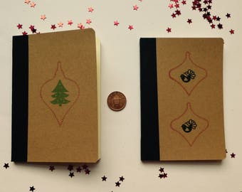Set of two Christmas notebooks