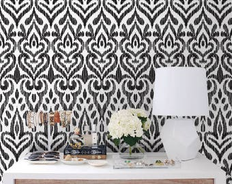 Regular Hand drawn Self Adhesive -  Peel and stick - Wall decor - Repositionable - Removable wallpaper -  Reusable - Wall Mural  #153
