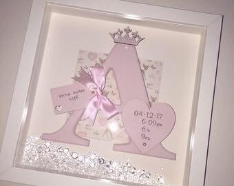 Handmade Personalised Letter frame.