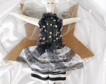 Handmade Cloth Fairy Doll about 32 cm tall by NoosaForestFairies