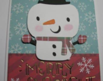 Sale Snowman Christmas Card