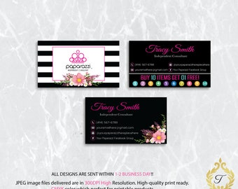 Paparazzi Business Card, Paparazzi Punch Card, Paparazzi Jewelry, Personalized Paparazzi Card, Paparazzi Marketing Card, Digital file PP05
