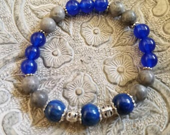 Lapis, Blue Jade and Fossil Gemstones