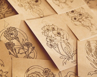 Flower Zodiac cards