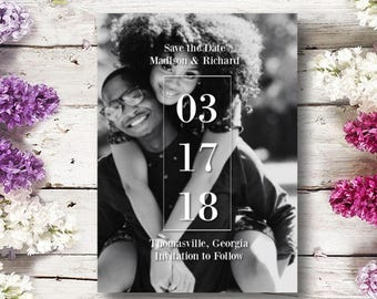 Simple Save The Date Custom Made To Order