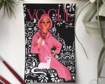 Pink, black and white VOUGE cover