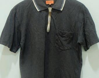 WILKES BASHFORD Polo Shirt Zipped Down Rare!! Vintage Authentic Golf Style