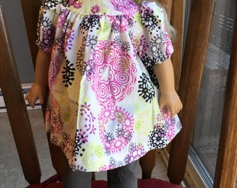 "Dress and leggings for 18"" doll such as American girl"