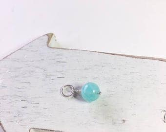Blue amazonite, blue dangle, gift for her, birthday gift,peruvian amazonite, blue necklace dangle, minimalist jewelry, blue dangle